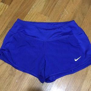 NIKE DRI-FIT blue/ purple running shorts